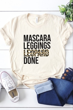 kissed Apparel Mascara, Leggings, & Leopard Tee - Product List Image