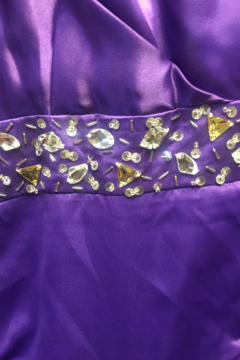 Shoptiques Product: Masquerade Purple Embellished Prom Formal Gown
