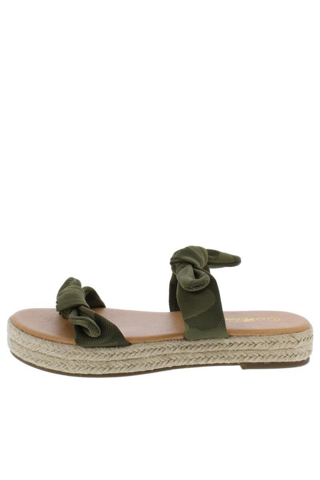 Mata Camo Espadrille Sandals - Front Cropped Image