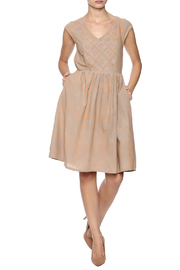 Mata Traders Aurora V-neck Dress - Front full body