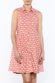 Mata Traders Coral Button Down Dress - Product Mini Image