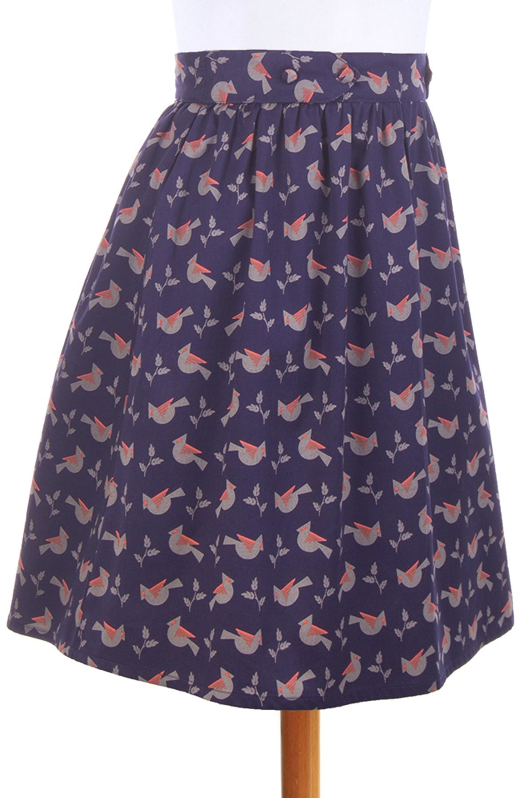 Mata Traders Bailee Button Skirt - Front Full Image