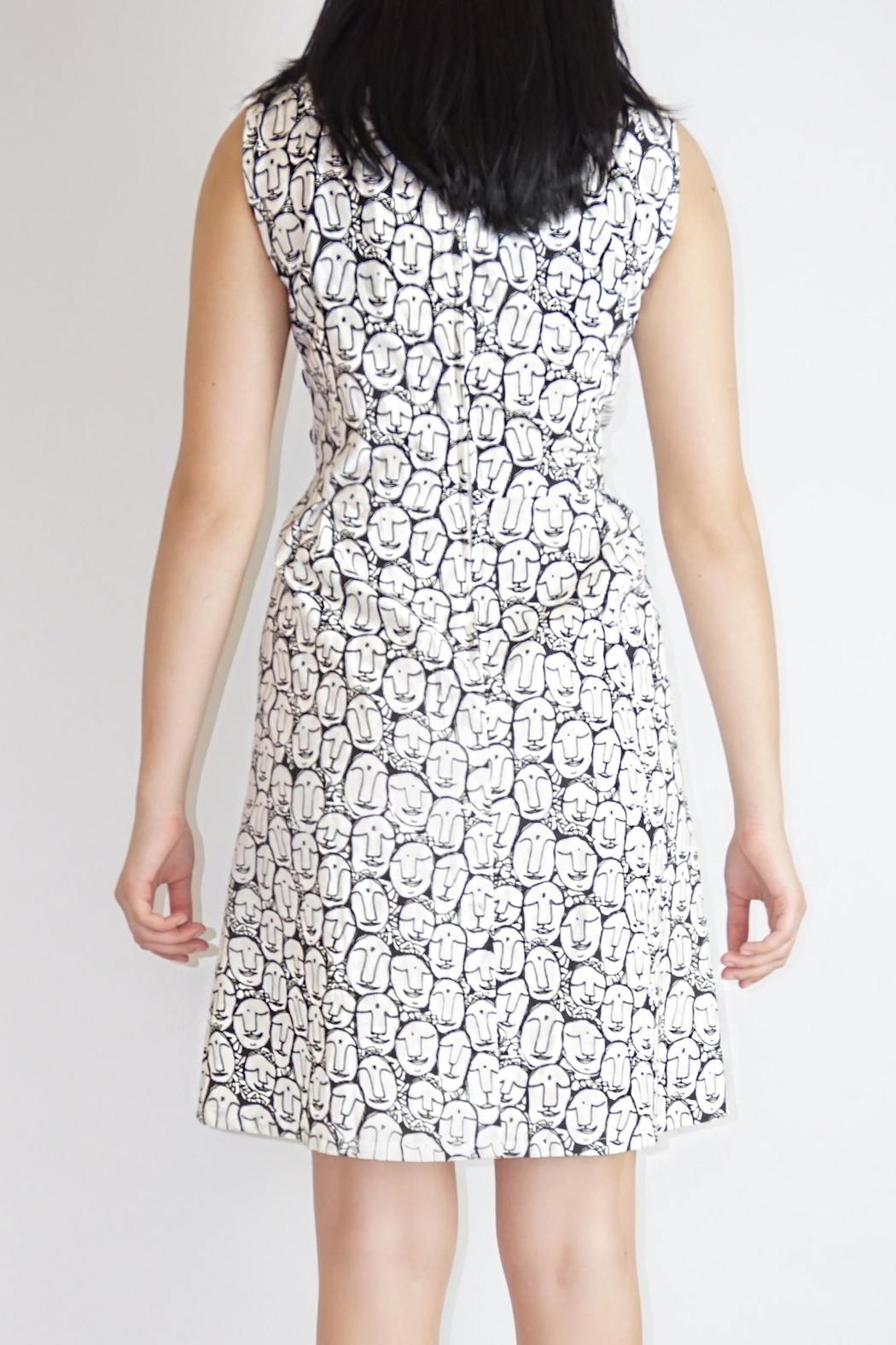 Mata Traders Face Print Dress - Side Cropped Image