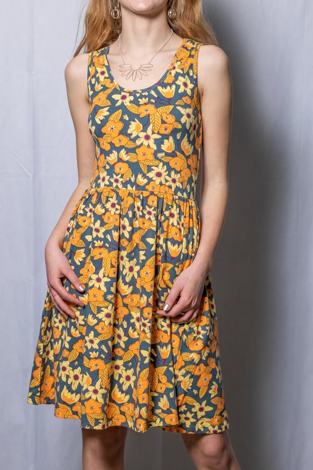 Mata Traders Floral Fit And Flare - Main Image