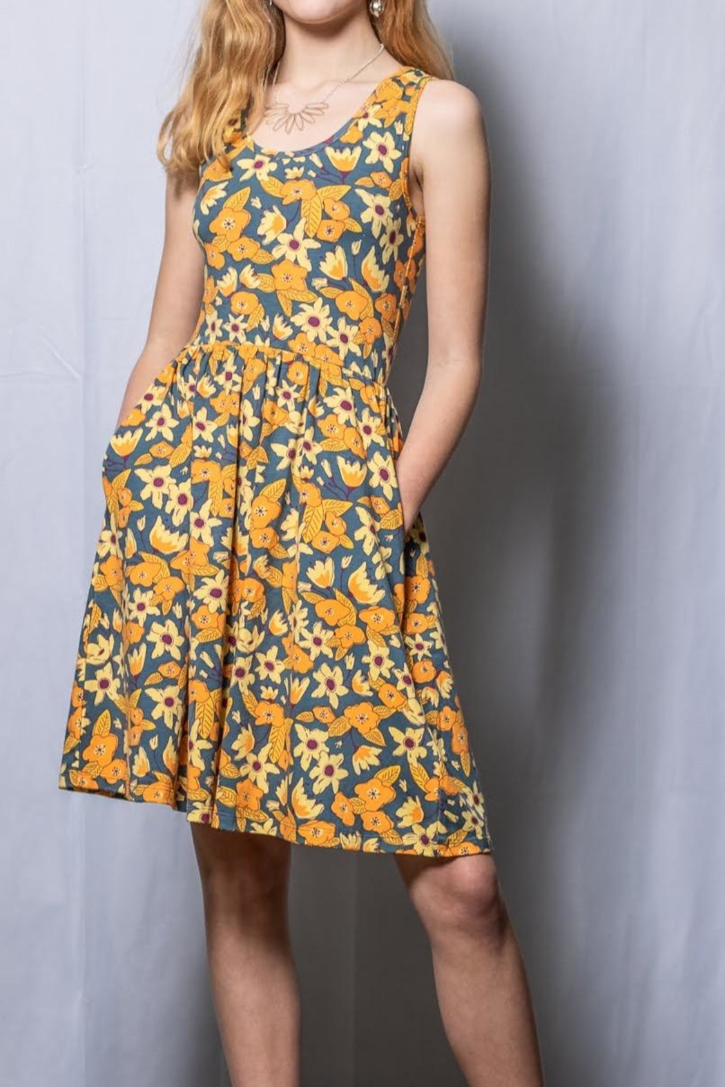 Mata Traders Floral Fit And Flare - Front Full Image