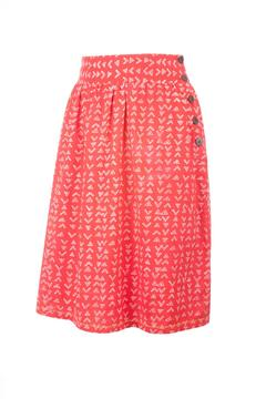 Shoptiques Product: High-Waisted Red Skirt