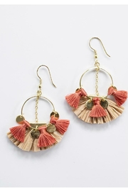 Mata Traders Raffia Charm Earring - Product Mini Image