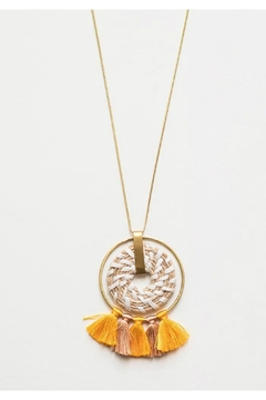 Mata Traders Raffia Pendant Necklace - Product List Image