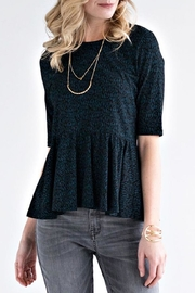 Mata Traders Raindrops Peplum Top - Front cropped