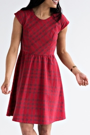 Mata Traders Red Plaid Dress - Front cropped