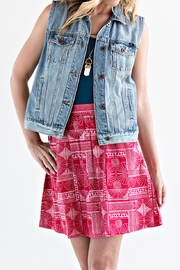 Mata Traders Red Print Skirt - Front cropped