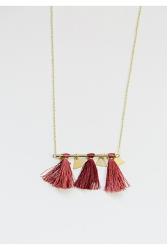 Mata Traders Tassel Bar Necklace - Product List Image