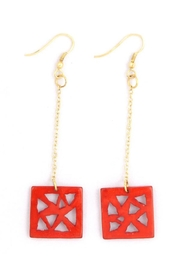Mata Traders Triangle Drop Earrings - Product Mini Image