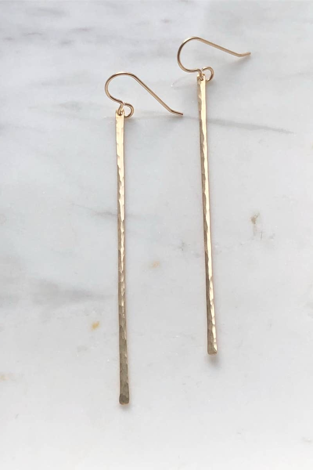 Token Jewelry Matchstick Earrings - Front Full Image