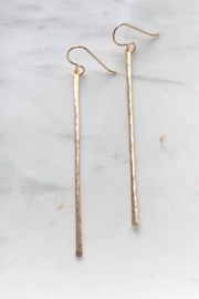 Token Jewelry Matchstick Earrings - Front full body