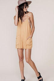 MATE the label Tan Tank Romper - Front cropped
