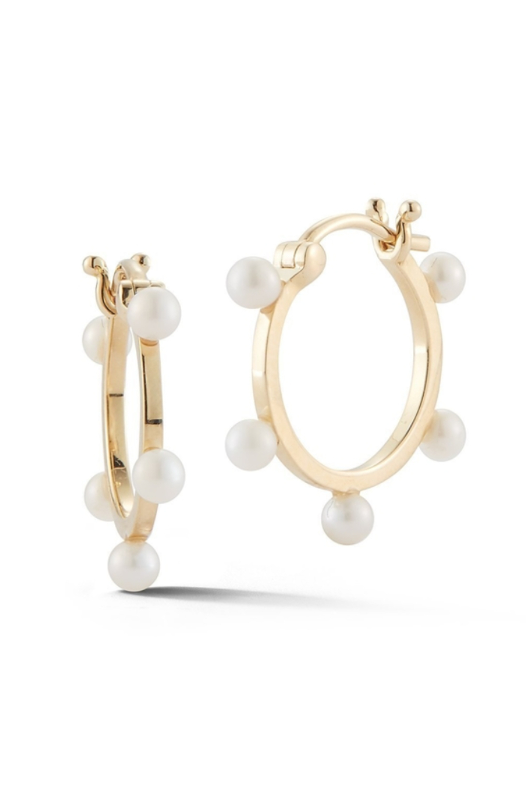 Mateo  Small Dots Hoops - Front Full Image