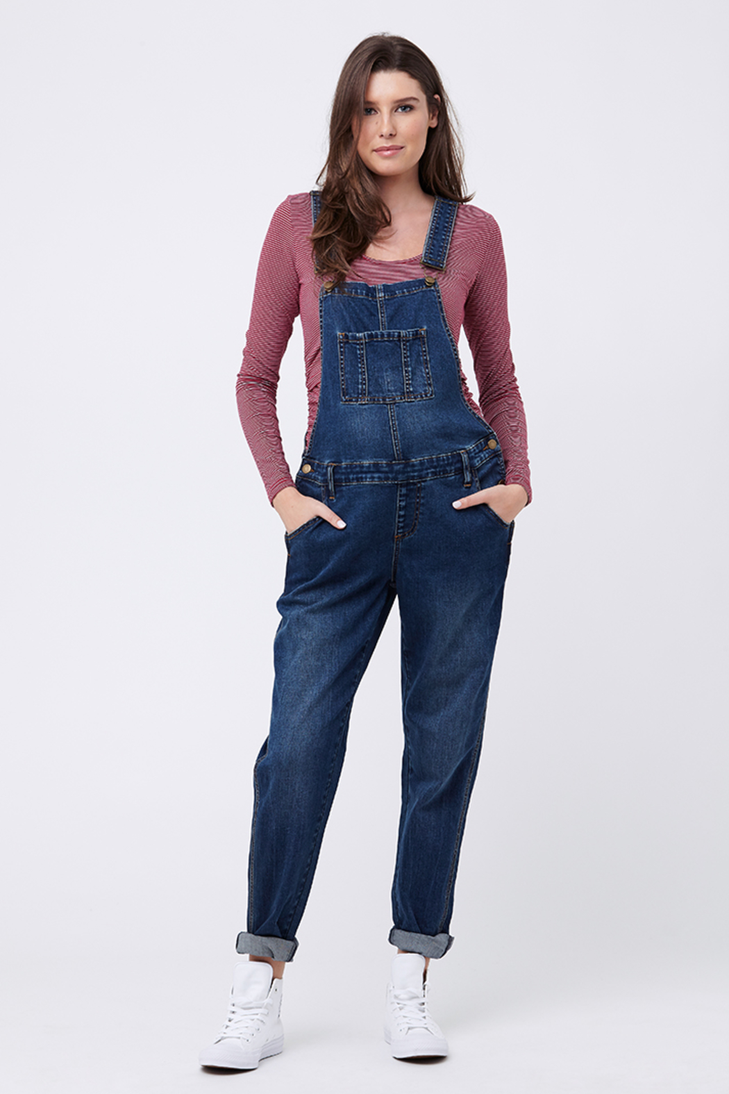 Ripe Maternity Maternity Overalls - Back Cropped Image