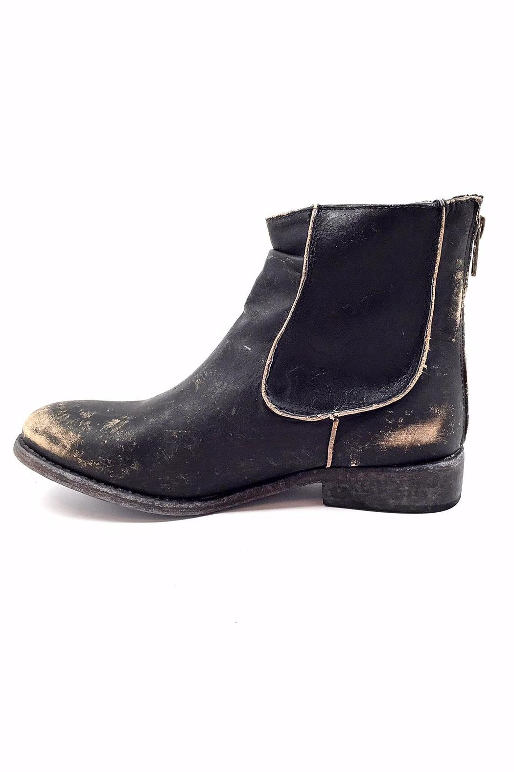Matisse Black Distressed Boot - Front Cropped Image