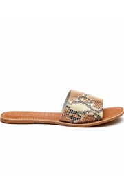 Matisse Cabana Beach Slides - White Snakeskin - Product Mini Image