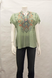 Biya by Johnny Was Matson Cupra Blouse - Front cropped