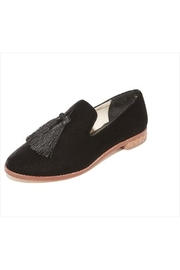 Matt Bernson Black Velvet Emerson Shoes - Front cropped