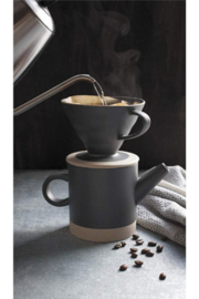 Danica Matte Black Pour Over Coffee Set - Front cropped