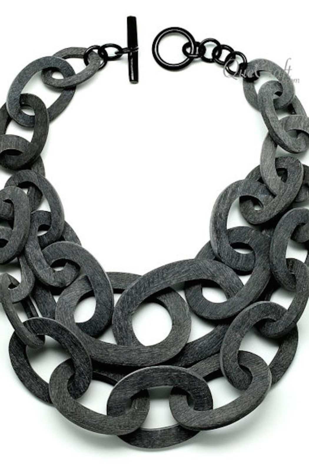 House of Atelier Matte Bone Necklace - Front Full Image