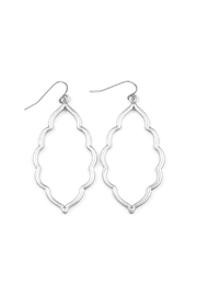 Riah Fashion Matte-Cut-Out Moroccan-Teardrop-Earrings - Product Mini Image