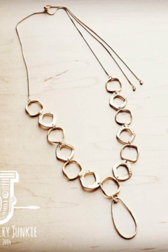 Jewelry Junkie Matte Gold Long Necklace - Product List Image
