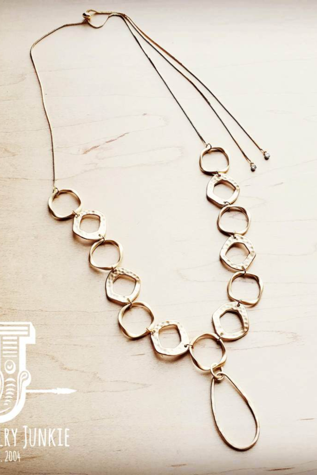 Jewelry Junkie Matte Gold Long Necklace - Main Image