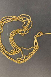 Customrags Matte gold tube chain w/spire - Product Mini Image