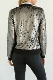 Mystree Matte Sequins Bomber Jacket - Product Mini Image