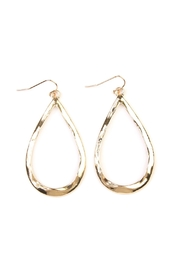 Riah Fashion Matte-Teardrop Cut-Out Earrings - Product Mini Image