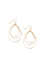 Riah Fashion Matte Tri-Teardrop Layered-Earrings - Product Mini Image