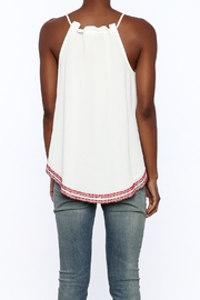 Matty M Embroidered Keyhole Tank - Back cropped