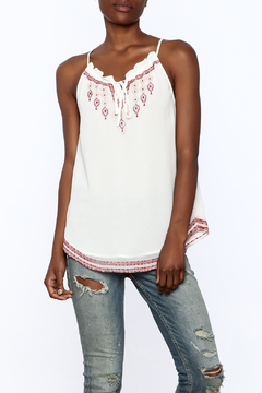 Shoptiques Product: Embroidered Keyhole Tank