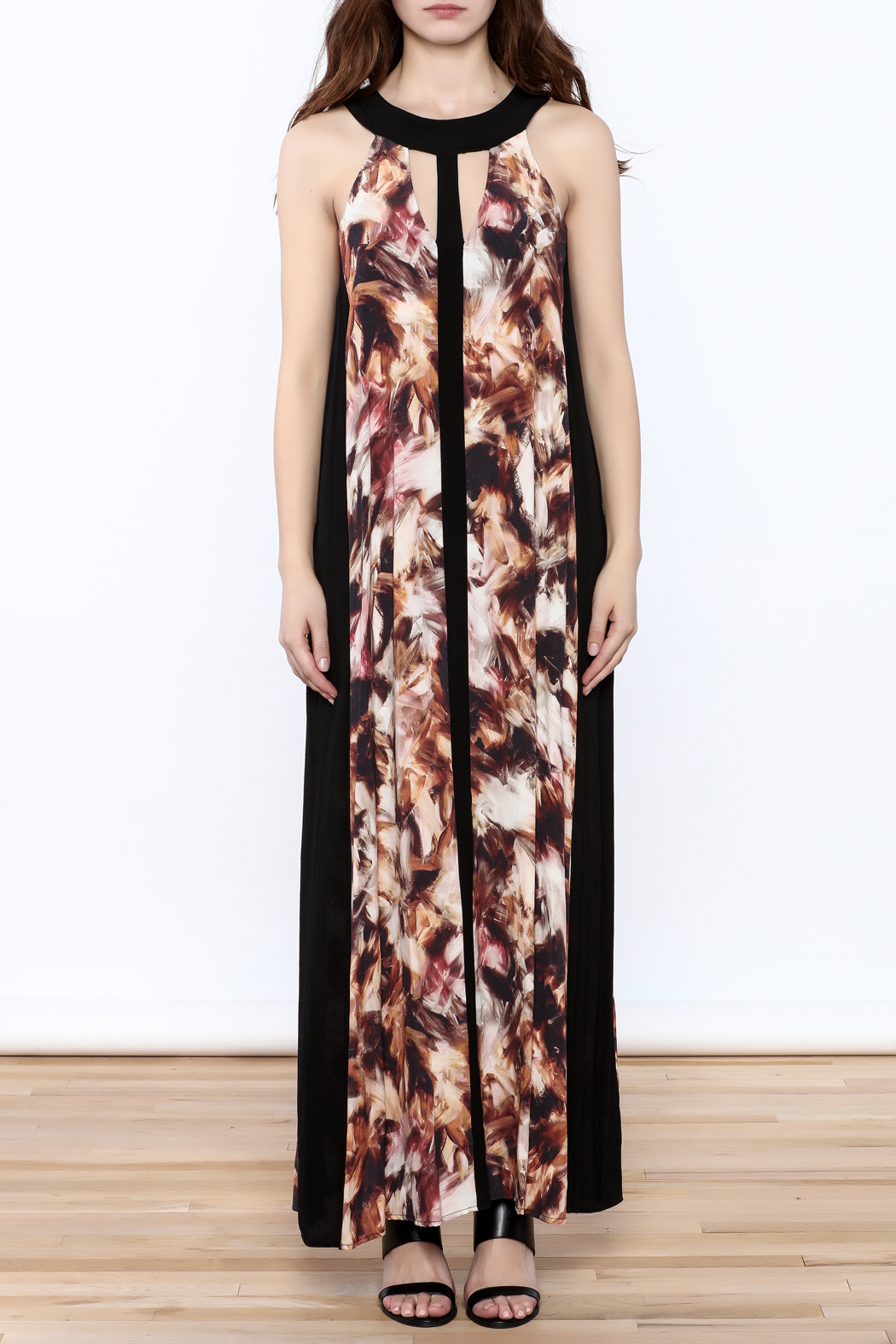 Matty M Halter Maxi Dress - Front Cropped Image