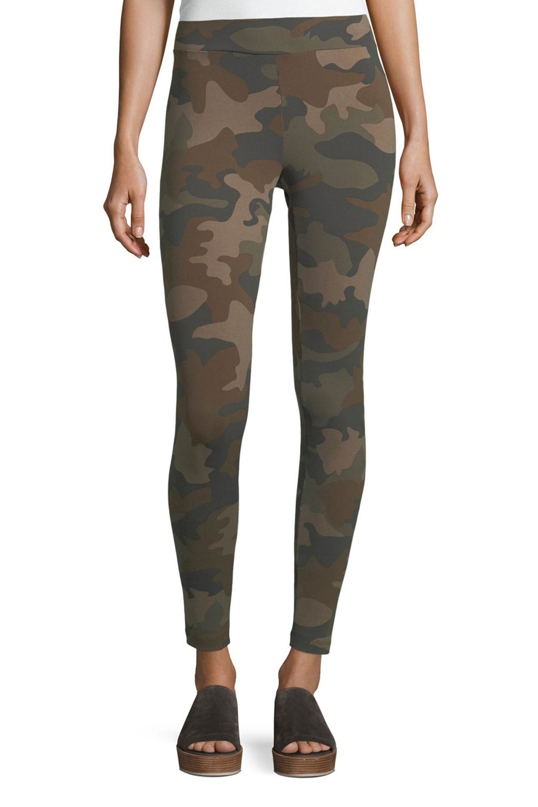 Matty M Camo Ponte Legging - Front Cropped Image