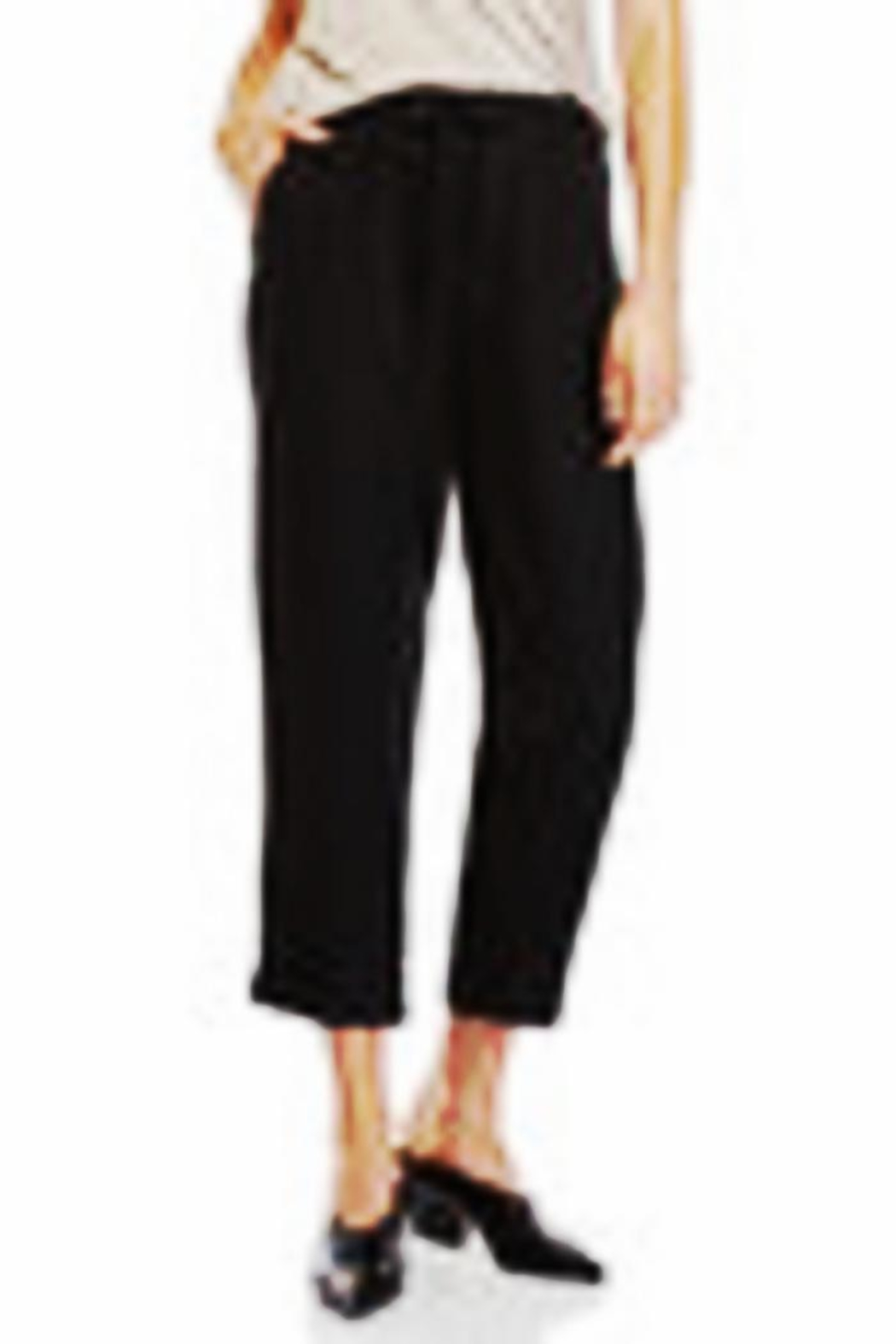 Matty M Crop Linen Pant - Main Image