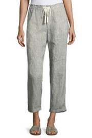 Matty M Crop Linen Pant - Front cropped