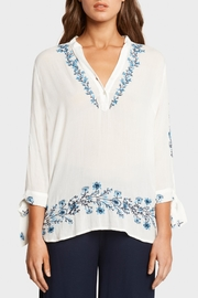 Matty M Embroidered V-Neck Top - Product Mini Image