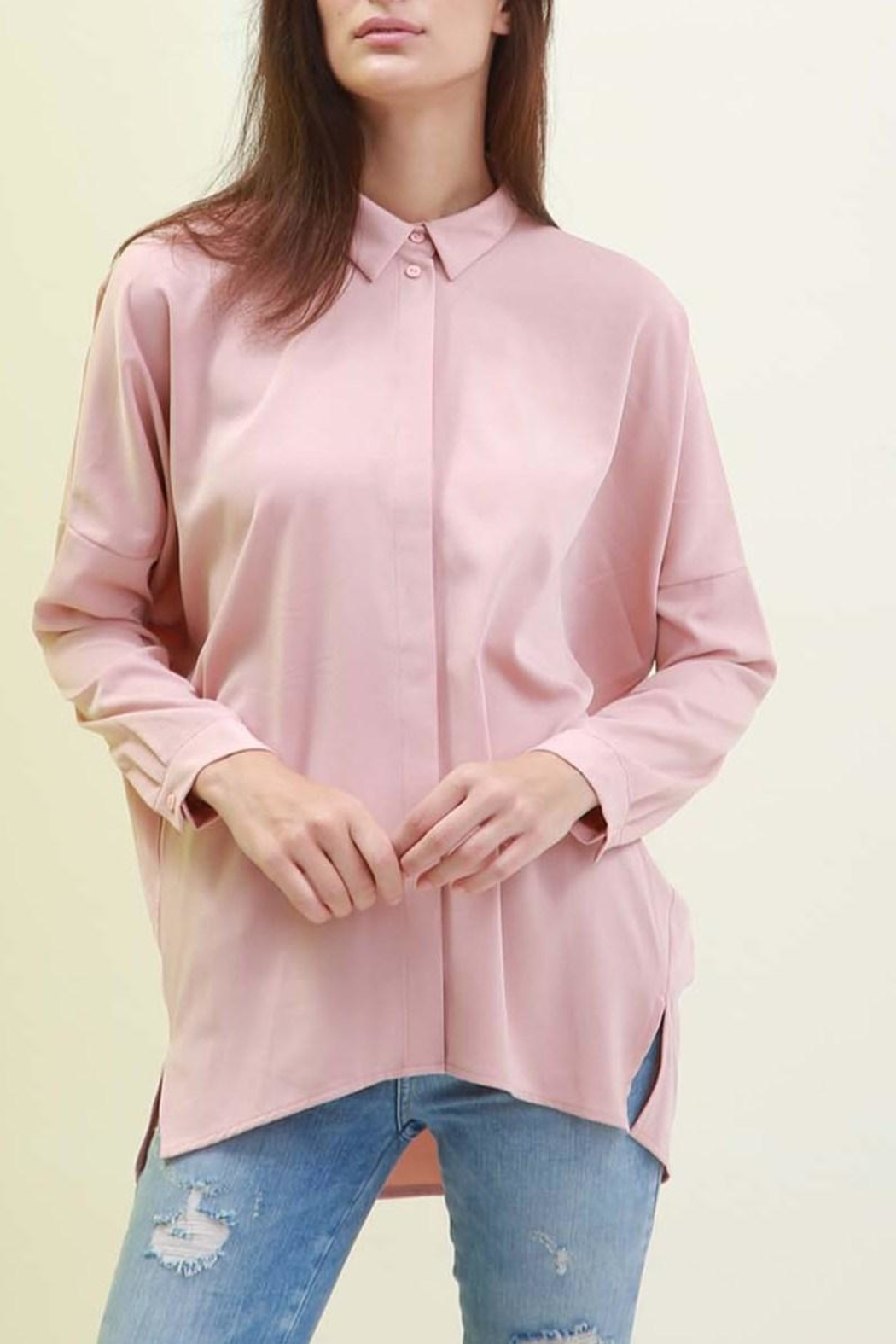 Maude Classy Button Down Top - Front Cropped Image