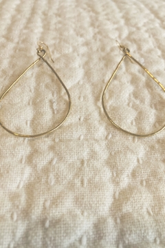 Shoptiques Product: Maui Hand Hammered LG Teardrop Earrings - 14K Gold Filled