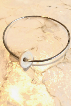 Maui Ocean Jewelry Maui Shell/Sea Glass Bangle - Product List Image