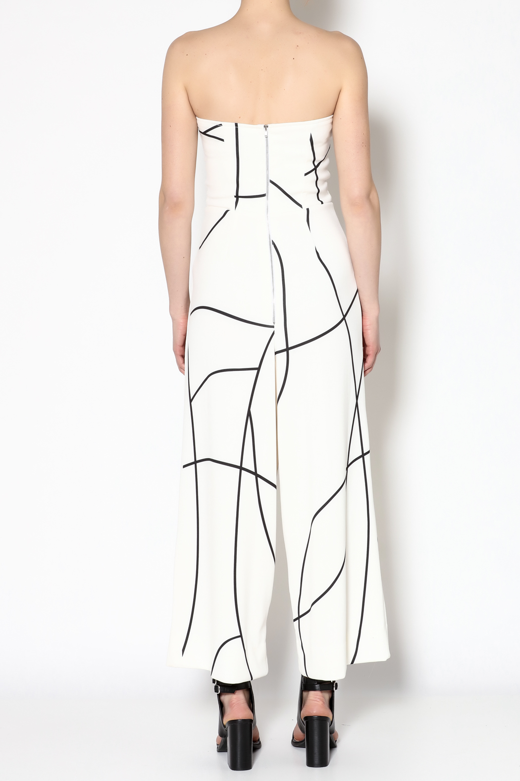 MAURIE & EVE White Cameron Jumpsuit - Back Cropped Image