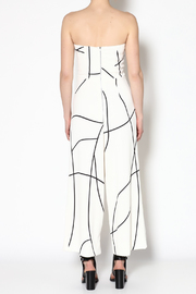 MAURIE & EVE White Cameron Jumpsuit - Back cropped