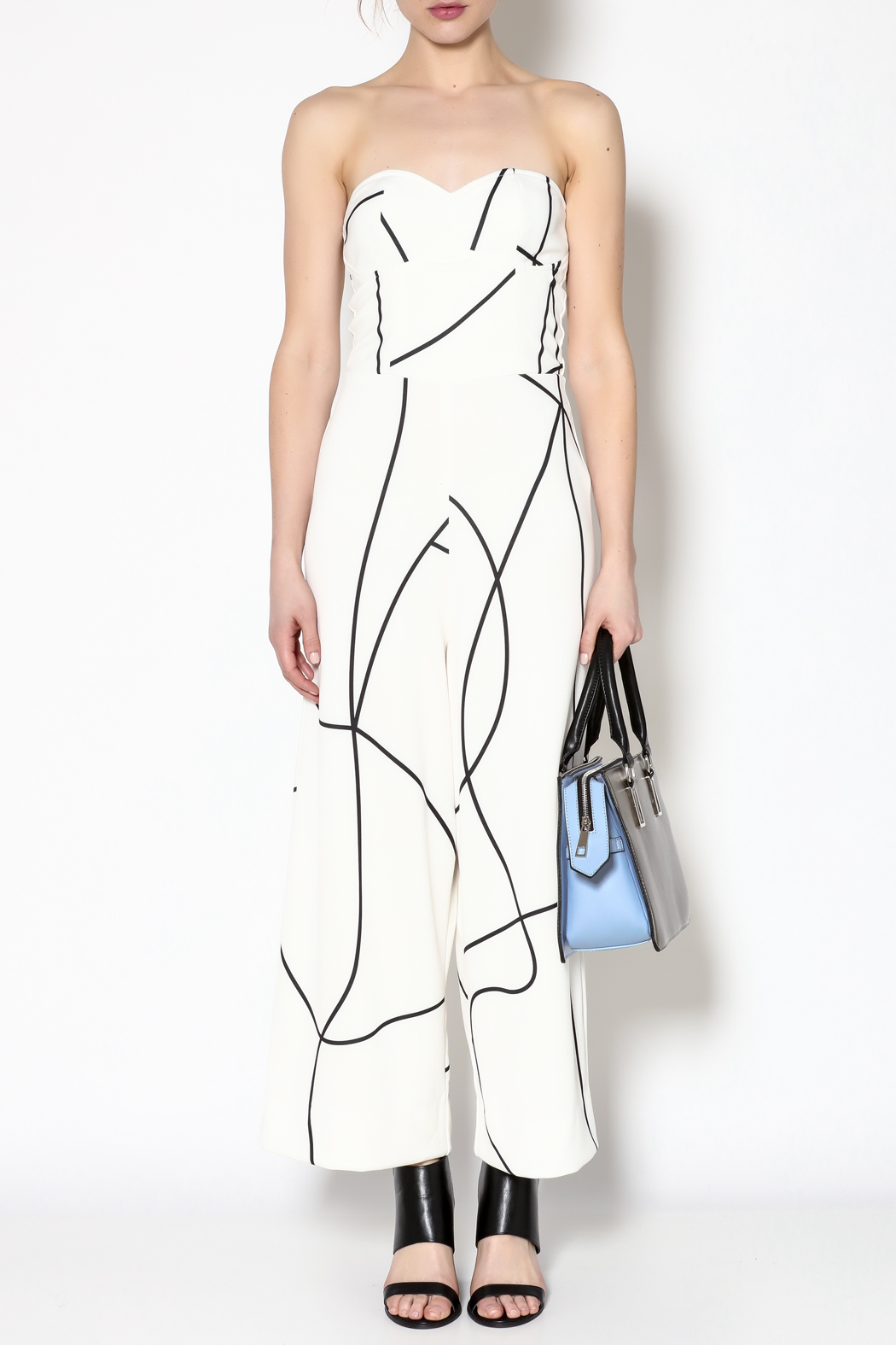 MAURIE & EVE White Cameron Jumpsuit - Front Cropped Image