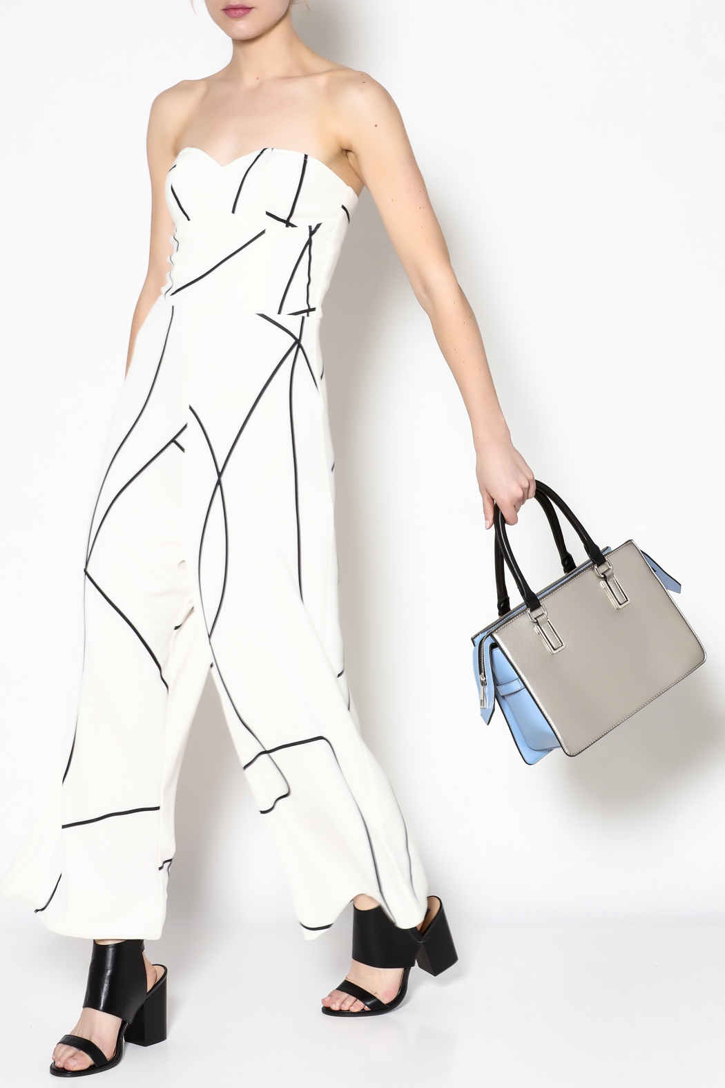 MAURIE & EVE White Cameron Jumpsuit - Main Image