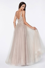 Cinderella Divine Mauve Beaded Bridal Ball Gown - Front full body